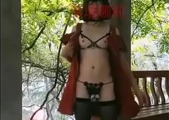 CD伪娘女装子芙塔娜莉露出自拍