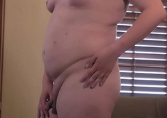 Feeble-minded t-girl acquires starkers plus displays the brush in the final