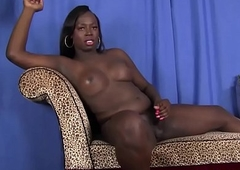 Negroid t-girl knockout without equal wanks