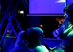 Kira Diamond &amp_ Nikki Chanell acknowledge @ T-Girl Corps Amsterdam 30-06-18
