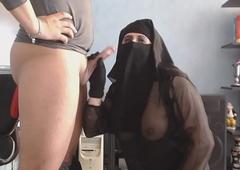 cheep et ejac sur mon niqab