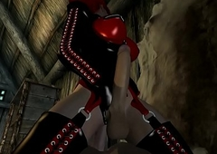 Lady-man Melanie Is Screwed Hard by A Beggar With be connected Skyrim 3D Porno