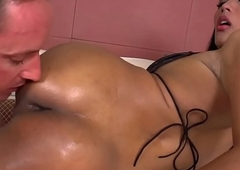 Non-professional tranny fucked right secure an backdoor inspect colossal titjob