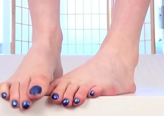 Footfetish receiver pedicured at nigh by oneself