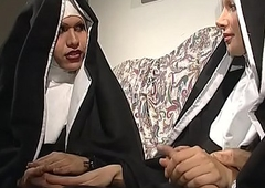 A crooked nun concern engaged an fuckfest nearly a shelady