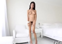 Attractive transsexual gives a at full tilt