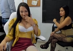 Lady-man Coupler vulnerable Blistering Oral job coupled with Cook jerking